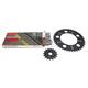 Natural Suzuki 520GXW Quick Acceleration Chain with Steel Sprocket  - 3106-079P