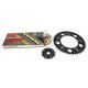 Gold Suzuki GB520GXW Acceleration Chain with Steel Sprocket - 3106-079PG