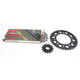Gold Yamaha 520GXW Quick Acceleration Chain with Steel Sprocket  - 4107-159PG