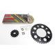 Gold Aprilia GB520GXW Chain and Sprocket Race Kit  - 8101-118DG