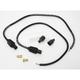 Black Universal 8mm Pro Wire Set w/180 Degree Boot - 76085
