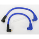 Blue 409 Pro Race Wires w/180 Degree Boot - 49633