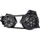 Black 2 in. Open Belt Drive Kit w/2-piece Motor Plate - TC2PB-2B