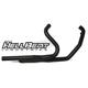 Black Hellbent Industries Exhaust Header - 23-601-CB