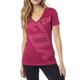 Women's Burgundy Angled V-Neck T-Shirt