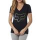 Women's Black Phoenix V-Neck T-Shirt
