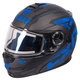 Black/Blue Fuel Modular Elite Helmet w/Electric Shield