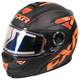 Black/Flo Orange/Charcoal Fuel Modular Elite Helmet w/Electric Shield