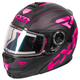 Black/Fuchsia/Charcoal Fuel Modular Elite Helmet w/Electric Shield