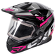 Black/Fuchsia/Charcoal FX-1 Team Helmet w/Electric Shield