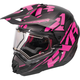 Black/Fuchsia/Charcoal Torque X Core Helmet w/Electric Shield