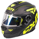 Black/Hi-Vis/Charcoal Fuel Modular Elite Helmet w/Electric Shield