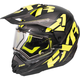 Black/Hi-Vis/Charcoal Torque X Core Helmet w/Electric Shield