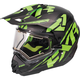 Black/Lime/Charcoal Torque X Core Helmet w/Electric Shield