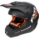 Black/Orange Torque Recoil Helmet