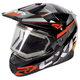 Black/Orange/Charcoal FX-1 Team Helmet w/Electric Shield