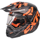 Black/Orange/Charcoal Torque X Core Helmet w/Electric Shield