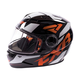 Youth Black/Orange/White Nitro Core Helmet