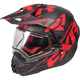Black/Red/Charcoal Torque X Core Helmet w/Electric Shield