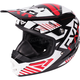 Youth Black/Red/White Throttle Battalion Helmet