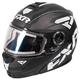 Black/White/Charcoal Fuel Modular Elite Helmet w/Electric Shield