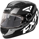 Youth Black/White/Charcoal Nitro Core Helmet
