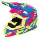Blue/Fuchsia/Hi-Vis Boost Revo Helmet