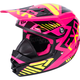Youth Electric Pink/Hi-Vis/Black Throttle Battalion Helmet