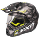 Gray Urban Camo/Hi-Vis Torque X Squadron Helmet w/Electric Shield