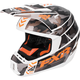 Gray Urban Camo/White/Orange Torque Squadron Helmet