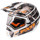 Gray Urban Camo/White/Orange Torque X Squadron Helmet w/Electric Shield