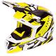 Hi-Vis/Black/White Boost Revo Helmet
