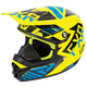 Youth Hi-Vis/Blue/Black Throttle Battalion Helmet