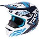 Youth Navy/Blue/White Throttle Battalion Helmet