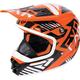 Youth Orange/Black/White Throttle Battalion Helmet