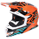 Orange/Teal/Black Boost Battalion Helmet