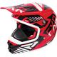 Youth Red/Black/White Throttle Battalion Helmet