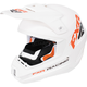 White/Orange Torque Recoil Helmet