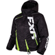 Child's Black Digi/Lime Boost Jacket