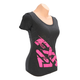 Women's Black/Fuchsia Broadcast T-Shirt