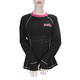 Women's Black/Fuchsia Vapour 20% Merino Long Sleeve Top