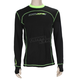 Black/Hi-Vis Vapour 20% Merino Long Sleeve Top