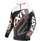 Black/Orange/White Race Tech 1/4 Zip Hoody