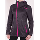 Women's Charcoal Heather/Fuchsia Diamond Dual-Laminate Jacket