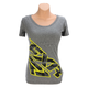 Charcoal Heather/Hi-Vis/Gray Urban Camo Broadcast T-Shirt