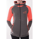 Women's Gray Heather/Electric Tangerine Clash Active Zip  Hoody