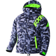 Youth Gray Urban Camo/Lime Squadron Jacket