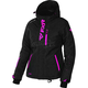 Women's Black Heather/Electric Pink Pulse Jacket