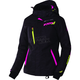 Women's Black Tri/Electric Pink Vertical Pro Jacket