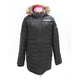 Women's Black/Electric Pink Fuze Long Down Jacket